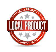Stock Illustration of local product seal illustration design