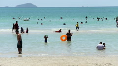 Classic Beach Scene In Thailand Stock Footage