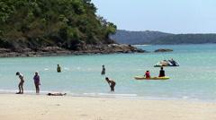 Kayaking On The Ocean In Thailand Stock Footage