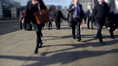 City commuters made of binary code. Stock Footage