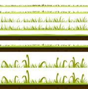 Stock Illustration of grass and lawn layers set