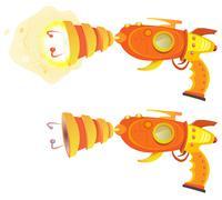 space laser ray gun - stock illustration