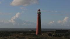 Lighthouse on the island of Schiermonnikoog Stock Footage