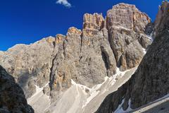 dolomiti - piz da lech - stock photo