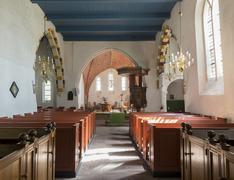 interior of the church of leermens. - stock photo