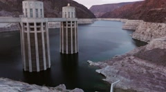 Hoover damn Lake meade Empty, drought, desert, water, dry 3/3 Stock Footage