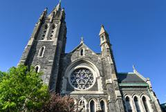 saint agnes, roman catholic church, brooklyn, ny - stock photo