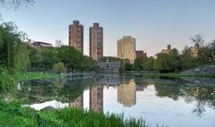 Harlem meer, central park, new york Stock Photos