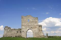 Ruins of old fortress - stock photo