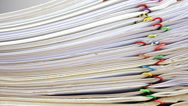 Stock Video Footage of Stack of account include sales and receipt time lapse