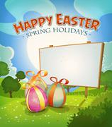 Spring time and easter holidays Stock Illustration
