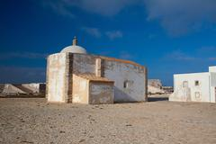 Church of our lady of grace  at sagres fortress,algarve, portugal Stock Photos