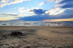 Sunset on the beach Kuvituskuvat