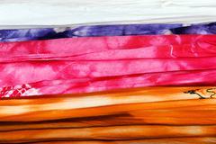 Tie dye fabric background Stock Photos