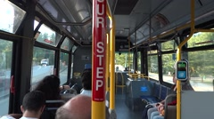 Vancouver - City Bus Trip - Street Park Road - stock footage