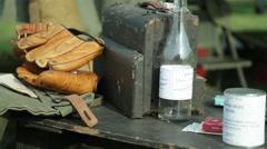 World War II Reenactors - Soldiers' Items Stock Footage