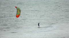 Kitesurfers at Mui Ne, Vietnam. Stock Footage
