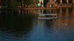 Stock Video Footage of Lake cruiser, Udaipur, Rajasthan, India