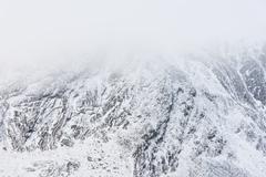 mountain winter - stock photo