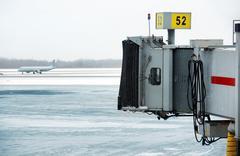 Frozen tarmac Stock Photos