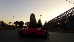 Go cart racing Stock Footage