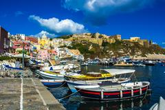 procida beautiful island - stock photo