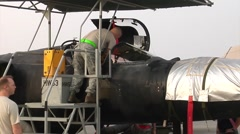 U-2 Dragon Lady Aircraft operations Stock Footage