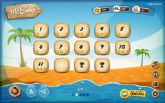 desert island game user interface design for tablet - stock illustration