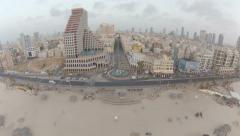 1086. Aerial Phantom2 Tel Aviv Beach Dolly side Stock Footage