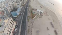 1083. Aerial Phantom2 Tel Aviv down the road Stock Footage