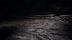 The moon's surface Stock Footage