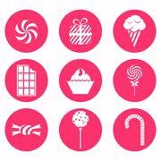 Stock Illustration of monochrome icons candy