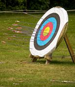 archery target - stock photo