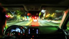 Timelapse Driving inside car, stressful rush hour traffic Stock Footage