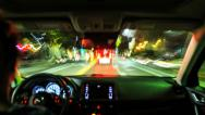 Stock Video Footage of Timelapse Driving inside car, stressful rush hour traffic