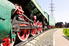 Rail road locomotive Stock Photos