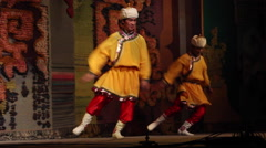 CULTURAL PERFORMANCE KAZAKH NATIONAL THEATRE DANCING Stock Footage