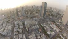 1090. Aerial Phantom2 Tel Aviv Buildings TOP SHOT Stock Footage