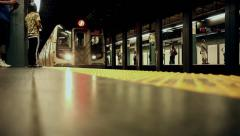 Subway Train Arriving Stock Footage