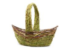 Had made straw basket Stock Photos