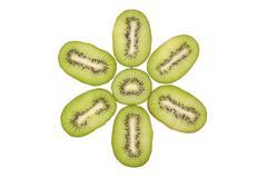 Fresh kiwi fruits Stock Photos
