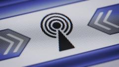 Antenna icon on the screen. Looping. - stock footage