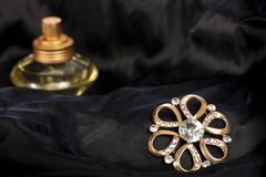 jewelry and perfume - stock photo