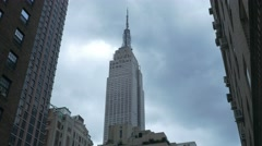 NYC 4K Empire state buliding 25P Stock Footage