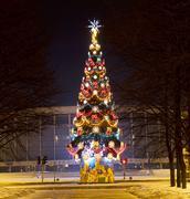 Christmas tree, st. petersburg Stock Photos