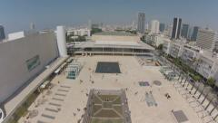 1106. Aerial Phantom2 Dolly out above Habima Theater Stock Footage