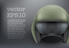 Background of Military flight helicopter helmet. Vector. Stock Illustration