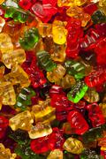 colorful fruity gummy bears - stock photo
