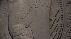 Eagle building medallion Stock Footage