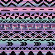 Stock Illustration of aztec tribal seamless pattern